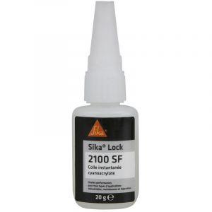 Sika Lock 2100 SF - Super glue - colle instantanée pour papier, bois et cuir - 20g - clair