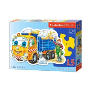 Castorland Puzzle camion de sable (15 pièces)