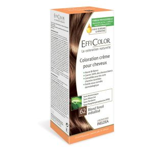 EffiColor Blond Foncé Métallisé N°62 - Coloration crème pour cheveux