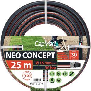 Cap Vert Tuyau d'arrosage Néo Concept - Diamètre 15 mm - Longueur 25 m