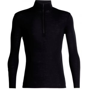 Icebreaker 175 Everyday L/S Half Zip - Sous-vêtement mérinos taille L, noir