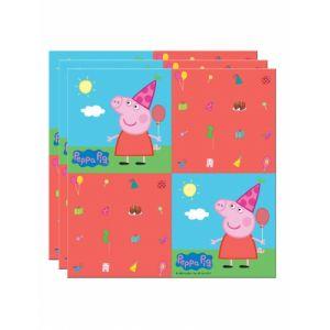 20 serviettes en papier Peppa Pig (33 x 33 cm)