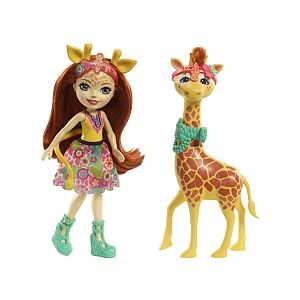 Mattel Poupée Enchantimals Balade Zoo Girafe Gillian