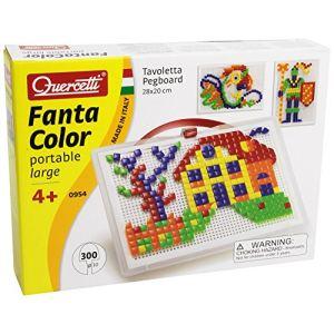 Quercetti Jeu de mosaïques - Fantacolor portable Large (300 clous)