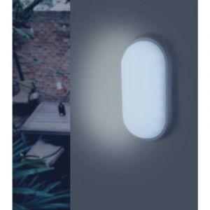 Silamp Applique LED Murale 20W Blanche Ovale IP65 (Pack de 10) - Blanc Froid 6000K - 8000K