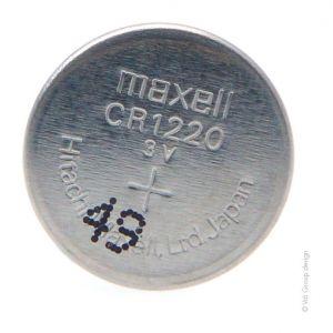 Maxell Pile bouton lithium blister CR1220 3V 36mAh