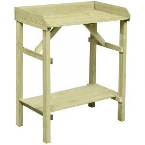 VidaXL Table de jardinière de jardin Pinède imprégné FSC 75x40x90 cm