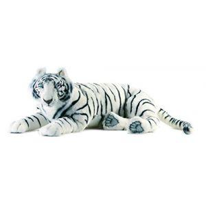 Anima Peluche Tigre blanc couché 100 cm