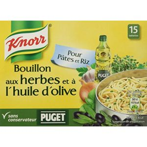 Knorr Bouillon Herbes et Huile d'Olive Puget 15 Cubes 150 g