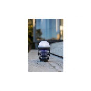 Lumijardin Lampe de table solaire anti moustique noire à LED Ø 9 x H 15 cm