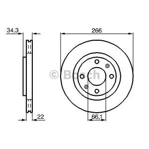 Bosch 0986478618 - Jeu de 2 disques de frein
