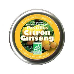 Aromandise Pastilles au citron et ginseng 45g