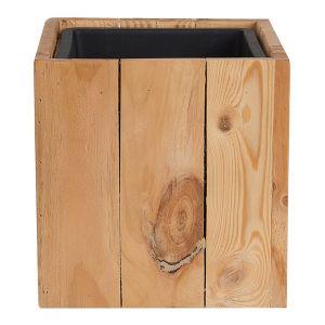 Beliani Cache-pot en bois AKRINI 24 x 24 x 24 cm
