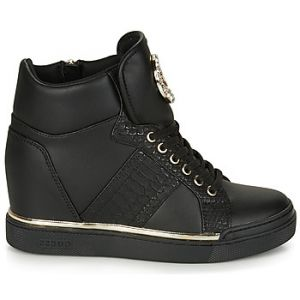 Guess Chaussures Femme Sneakers avec Coin Interne FL5FREELE12 Noir Taille 40 Black