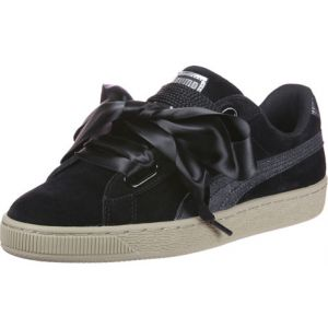 Puma Suede Heart Safari, Basket Mode Femme, Noir (Black-Black), 36 EU