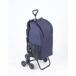 Wenko Chariot à courses avec siège bleu foncé