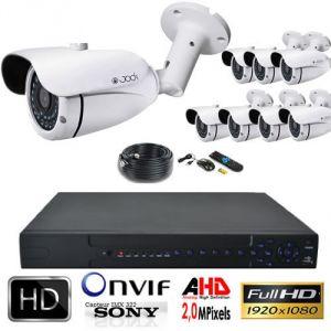 Jod-1 Kit vidéosurveillance AHD PRO 1080P 8 Tubes 2,0MP