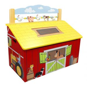 Fantasy Fields Auguste - Coffre à jouets en bois les animaux de la ferme