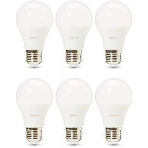 Amazon Basics Professional Lot de 6 ampoules LED Culot Edison à vis E27 Équivaut à 75 W Blanc froid