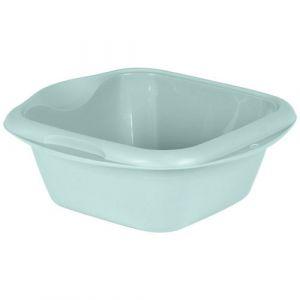Eda Plastiques Cuvette carrée - 35.5 cm - 8 L - vert d'eau - Cuvette