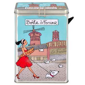 Derrière la porte Boite à farine Baguettes avec bec verseur