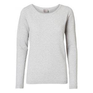 Vero Moda Chandails Vero-moda Care Structure L/s - Light Grey Melange - L