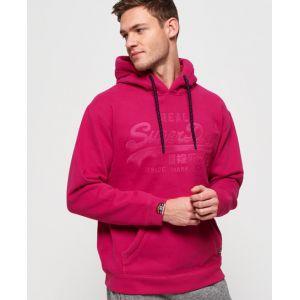 Superdry Sweat à capuche avec logo appliqué Vintage - Couleur Rose - Taille XL
