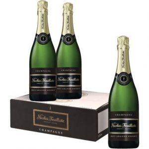 Nicolas Feuillatte Champagne carton grande reserve 3 x 75 cl