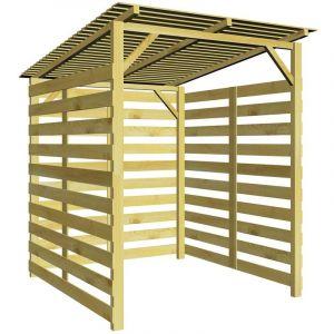 VidaXL Abri de stockage du bois de chauffage Bois de pin imprégné FSC