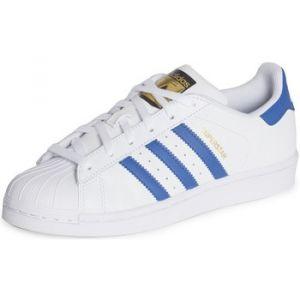 Adidas Superstar, Baskets Basses Garçon, Blanc (FTWR White/EQT Blue S16/Eqt Blue S16), 36 2/3 EU