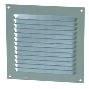 Nicoll Grille persienne aluminium mousti. 15x15 cm blanc, en sachet 1LM1515B -