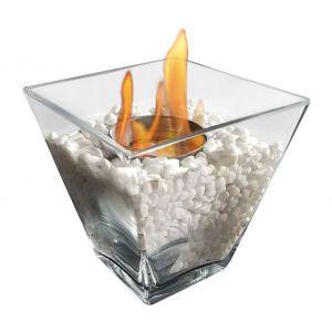 Purline Ptelea - Cheminée bio éthanol de table en verre