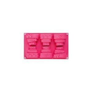 Image de Pavonidea Moule 6 empreintes 3 décors pièces montées en silicone