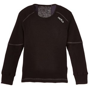 Odlo T- ML Active X-Warm Originals Enfan t-Shirt Manches Longues Enfant Extra Chaud Mixte, Black, FR : S (Taille Fabricant : 128)