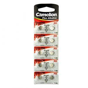 Camelion 10 AG3 / LR41 / 192 / 392 pile bouton longue durée de vie (date d'expiration marqué)