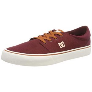DC Shoes Trase SD, Chaussures de Skateboard Homme, Rouge (Burgundy/Tan Bt3), 45 EU
