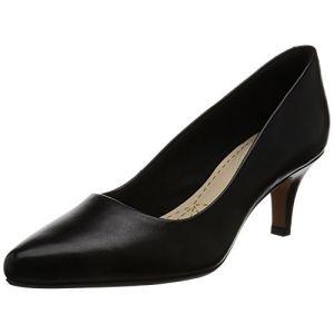 Clarks Isidora Faye, Escarpins Femme, Noir (Black Leather-), 39 EU