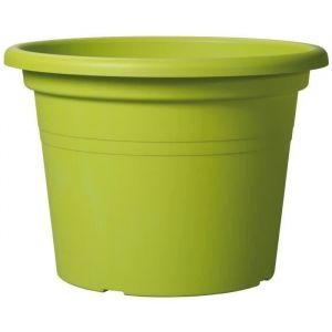 Deroma Pot Farnese - 35x35x24,6cm - 14l - Vert olive - Plastique injecté - Résistant au gel, résistant aux UV, recyclable, modèles déposés