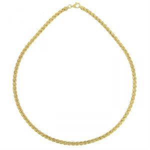 Rêve de diamants CDMC423 - Collier maille palmier plate en or jaune 375/1000