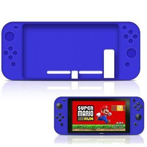 Straße Game Housse Étui Silicone De Protection Pour Console Nintendo Switch - Bleu