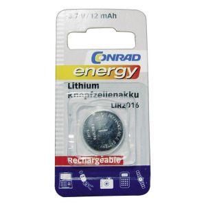 Pile bouton rechargeable lithi 3 6 V Conrad energy LIR2016 12 mAh 1 pc(s)