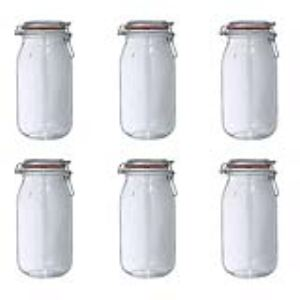 Le Parfait 6 bocaux Super en verre (2 L)