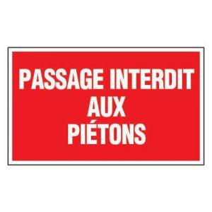 Novap PANNEAU RIG.330X200 PASSAGE INTERDIT AUX PI ETONS,