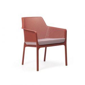 Nardi Coussin d'assise pour fauteuil de jardin NET RELAX 57x52 par - Vert menthe - Extérieur - Fermeture Zip