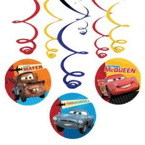 6 guirlandes verticales Disney Cars