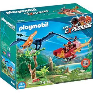 Playmobil 9430 - The Explorers : Hélicoptère et Ptéranodon