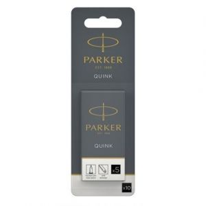Parker 10 cartouches longues, encre noire