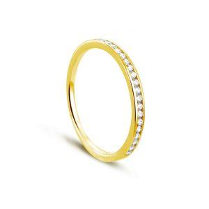 Rêve de diamants 3612030081897 - Bague en or jaune sertie de diamants