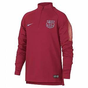 Nike Haut de football à manches longues FC Barcelona Dri-FIT Squad Drill pour Enfant plus âgé - Rose - Taille M