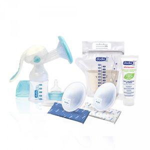 Dodie Kit allaitement avec tire lait manuel Transparent - Taille Taille Unique